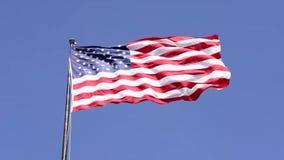 Bandera americana del patriota almacen de video