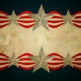 Bandera americana del vintage Imagenes de archivo