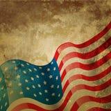 Bandera americana del vintage stock de ilustración