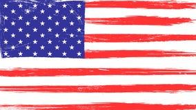 Bandera americana del vintage con textura del grunge ilustración del vector