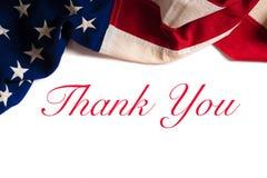 Bandera americana del vintage para el día de veteranos Imagen de archivo libre de regalías