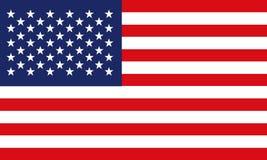 Bandera americana, ejemplo del fondo de A de una bandera americana Fotografía de archivo