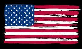 Bandera americana en estilo del cepillo de pintura Foto de archivo libre de regalías