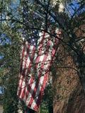 bandera americana en ladrillo Foto de archivo libre de regalías