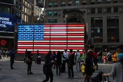 Bandera americana en Times Square Fotografía de archivo