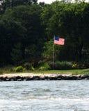 Bandera americana en un día de verano Fotografía de archivo libre de regalías