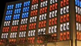 Bandera americana en Windows coloreado almacen de metraje de vídeo