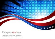 Bandera americana, fondo abstracto del libre illustration