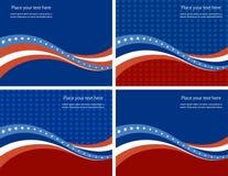 Bandera americana, fondo del vector para la independencia stock de ilustración