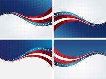 Bandera americana, fondo del vector para la independencia Foto de archivo libre de regalías