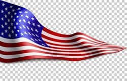 Bandera americana larga fotos de archivo libres de regalías