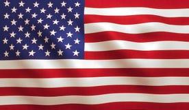 Bandera americana los E.E.U.U. Fotografía de archivo
