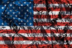 Bandera americana metálica imagen de archivo