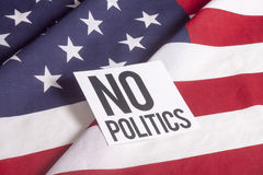 Bandera americana - ninguna política Imagen de archivo libre de regalías