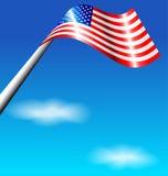 Bandera americana para el Día de la Independencia los E.E.U.U. Fotos de archivo libres de regalías