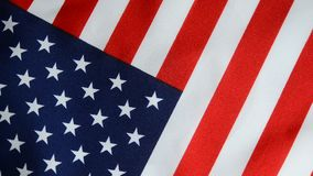 Bandera americana que gira almacen de metraje de vídeo