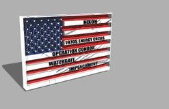 Bandera americana sobre Nixon stock de ilustración