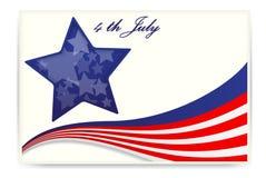 Bandera americana, tarjetas de visita Foto de archivo