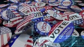 Bandera americana y pernos