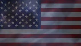 Bandera americana y trueno almacen de metraje de vídeo