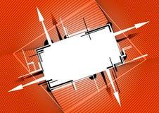 Bandera anaranjada Foto de archivo libre de regalías