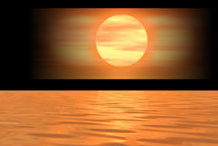 Bandera anaranjada de la insignia Foto de archivo