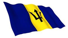 Bandera animada de Barbados libre illustration