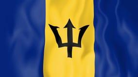 Bandera animada de Barbados ilustración del vector
