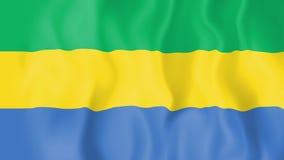 Bandera animada de Gabón