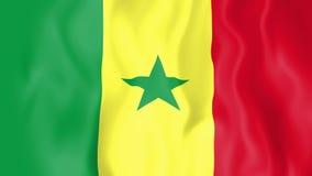 Bandera animada de Senegal libre illustration