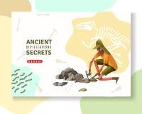 Bandera antigua de la arqueología de los secretos libre illustration