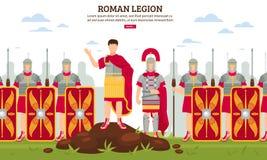 Bandera antigua de la legión de Roma ilustración del vector