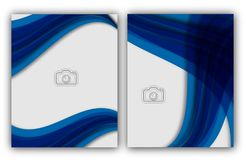 Bandera anual abstracta del documento de Infographic de la página de la revista de la plantilla del cartel de la cubierta de libr Foto de archivo