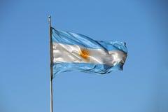 Bandera argentina real Foto de archivo
