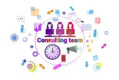 Bandera asesor del web de Team Support Technical Online Chat Fotografía de archivo libre de regalías