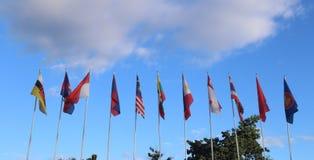 bandera asiática para el AEC Imagenes de archivo