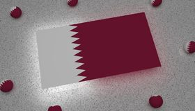 Bandera Asia blanca púrpura de Qatar libre illustration