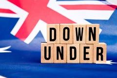 Bandera australiana - abajo debajo Imágenes de archivo libres de regalías