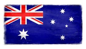 Bandera australiana destruida foto de archivo libre de regalías