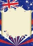 Bandera australiana sucia Foto de archivo libre de regalías
