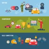 Bandera auto del deporte Foto de archivo libre de regalías