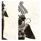 Bandera, aviador de Egipto antiguo de los osiris stock de ilustración