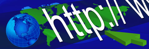 Bandera azul 3 del mundo stock de ilustración