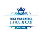 Bandera azul Fotografía de archivo libre de regalías