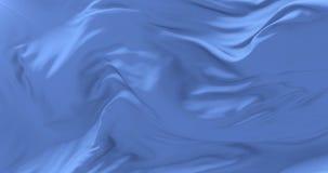 Bandera azul clara del paño o de la seda que agita en el viento en lento, lazo
