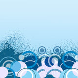 Bandera azul con estilo libre illustration