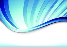 Bandera azul con los rayos azules Ilustración del Vector