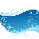 Bandera azul de la Navidad Imagen de archivo