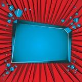 Bandera azul en blanco rota. Fotografía de archivo libre de regalías