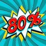 Bandera azulverde del web de la venta Venta estupenda El ochenta por ciento 80 de la venta en azulverde torcido Fotos de archivo